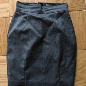 Gray patterned pencil skirt